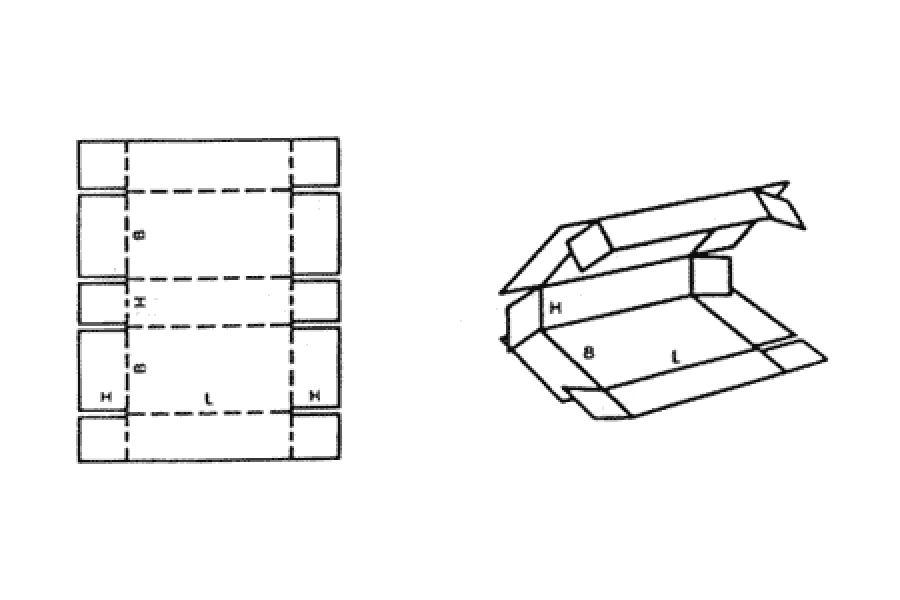 FEFCO 0409 Tek Parça Teleskopik Kutu